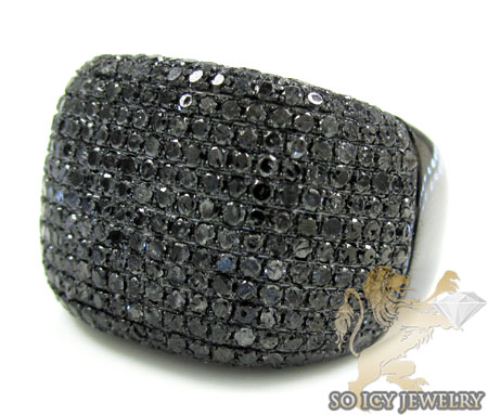 Black Sterling Silver Diamond Fashion Ring 4.83ct