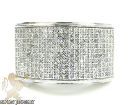 White Sterling Silver Diamond Fashion Ring 1.00ct