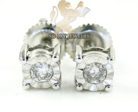.925 White Sterling Silver Diamond Studs 0.20CT