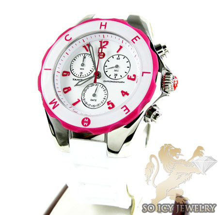 Tahitian Jelly Bean Large Stainless Steel Pink White Tone