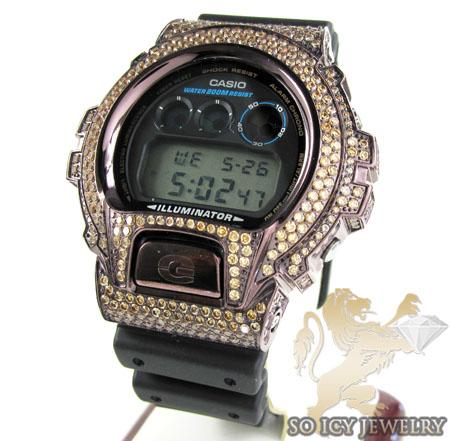 Mens Champagne Cz Dw-6900 Brown G-shock Watch 5.00ct