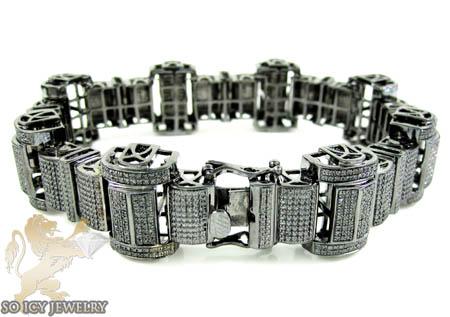 Black Sterling Silver Black Diamond Bracelet 2.00ct