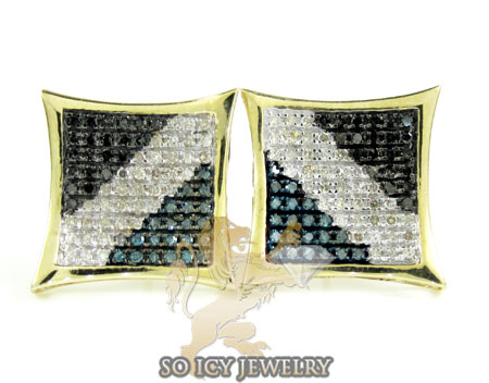 14k yellow gold color diamond earrings 1.25ct