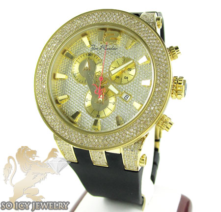 Mens Joe Rodeo Yellow Stainless Steel Broadway Diamond Watch 5.00ct