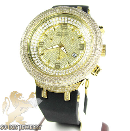 Mens Joe Rodeo Yellow Stainless Steel Master Diamond Watch 6.50ct
