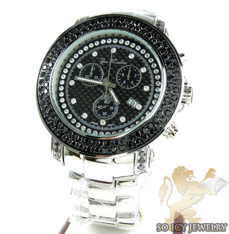 Mens Joe Rodeo Black Stainless Steel Junior Diamond Watch 4.75ct