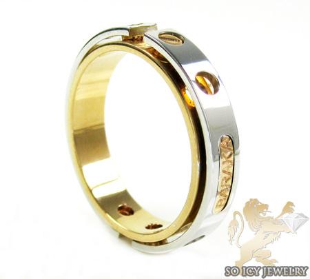 Mens baraka 18k white & rose gold ring