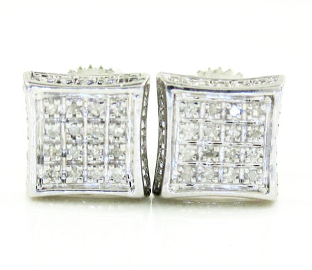 925 White Sterling Silver White Diamond Earrings 0.20ct