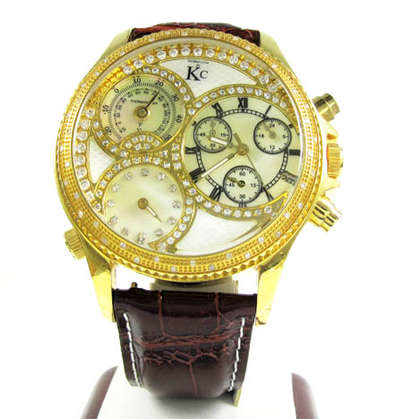 Techno Com Kc Diamond Yellow Pearl Watch 0.50ct