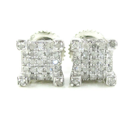 925 White Sterling Silver Diamond Earrings 0.35ct