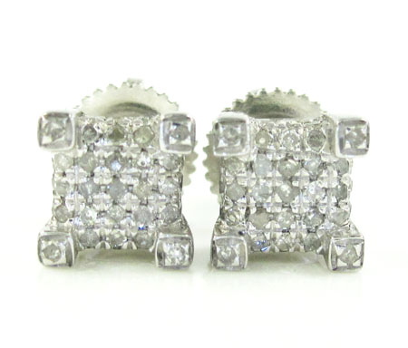 925 white sterling silver diamond earrings 0.65ct