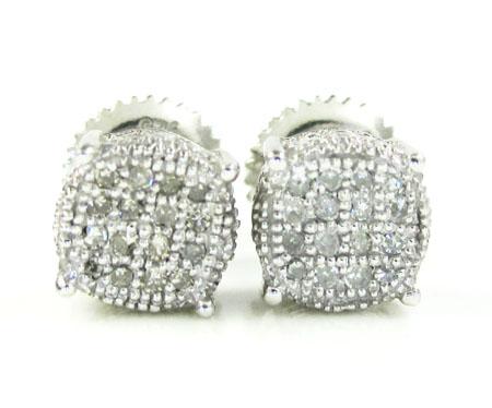 925 White Sterling Silver White Diamond Earrings 0.25ct