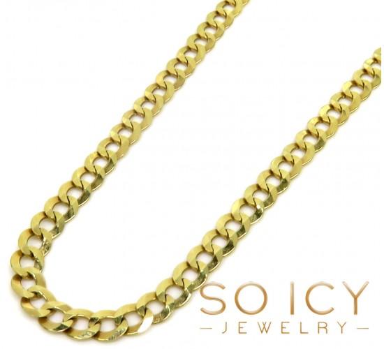 10k Yellow Gold Cuban Chain 22-36 Inch 3.80mm