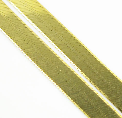 10k Yellow Gold Herringbone Chain 24 Inch 5mm