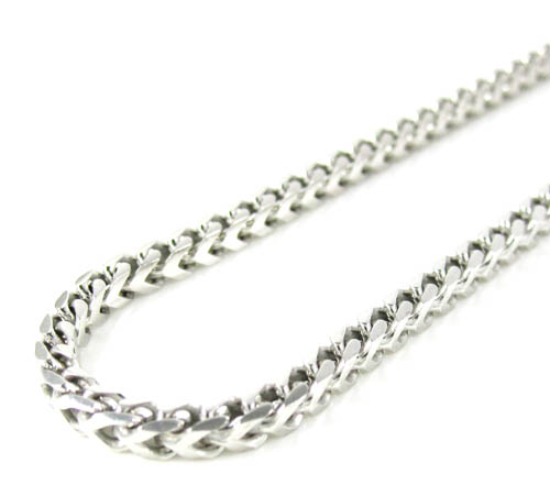 Buy 925 White Sterling Silver Franco Link Chain 36 Inch 2 5mm Online At So Icy Jewelry