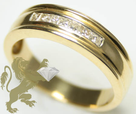 0.25ct 14k Yellow Gold 'princess Diamond Band'