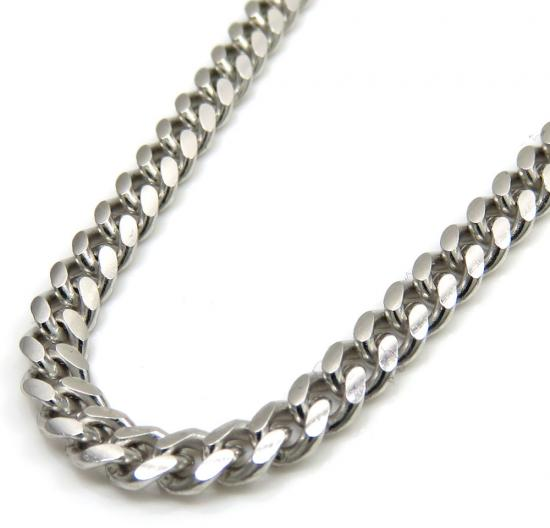 925 Sterling Silver Miami Link Chain 22 Inches 3.40mm