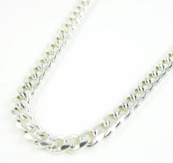 925 Sterling Silver Tight Cuban Link Chain 30 Inches 3.60mm