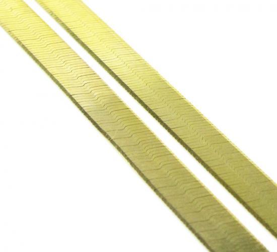 10k Yellow Gold Herringbone Chain 24 Inch 4.80mm