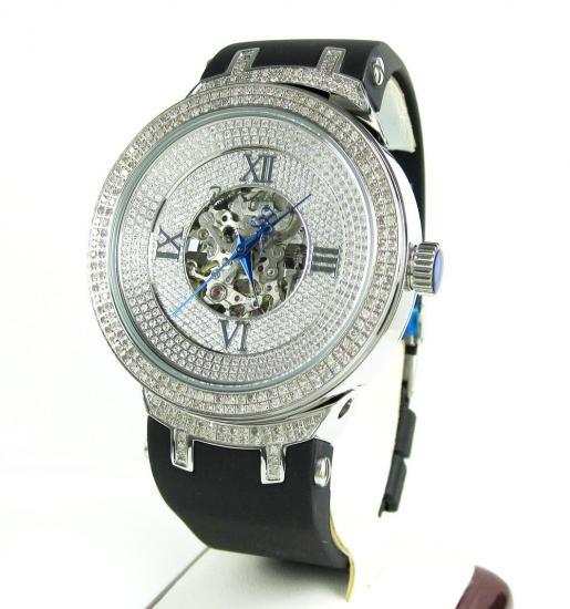 Joe Rodeo Master White Automatic Diamond Watch Jjm71 2.20ct