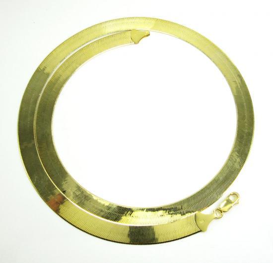 10k Yellow Gold Herringbone Chain 22 Inch 9.65mm