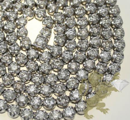 17.00ct 10k White Gold 0.10 Pointers Round Diamond Buttercup Tennis Chain