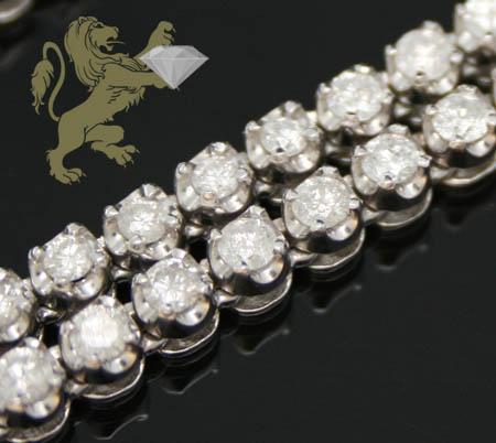 14.00ct 10k White Gold '0.10 Pointers Round Diamond' Chain