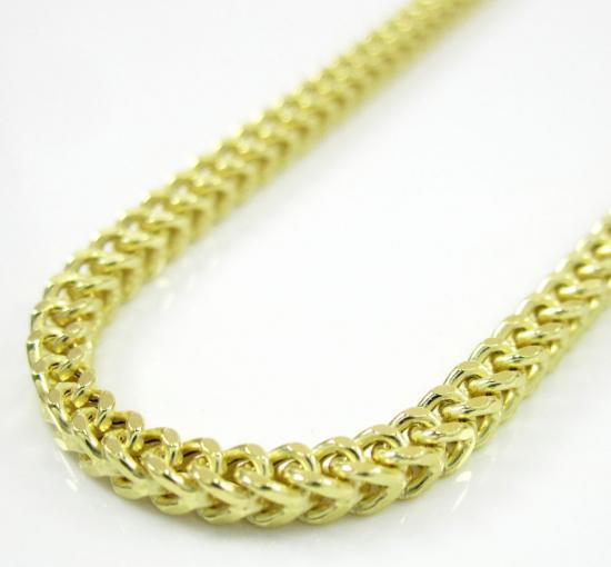 10k Yellow Gold Franco Box Chain 18-30 Inch 2.2mm