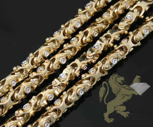 2.50ct 14k Yellow Gold 'round Diamond Fancy Chain'
