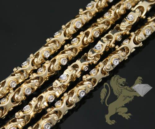 2.50ct 14k Yellow Gold 'round Diamond Fancy Chain'