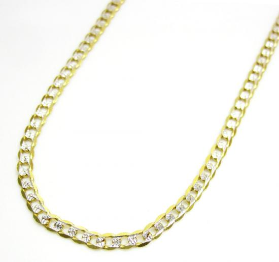 10k Yellow Gold Diamond Cut Cuban Link Chain 16-24 Inch 2.2mm