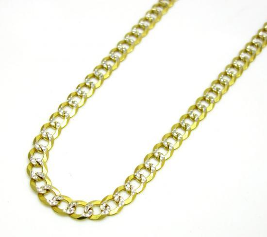 10k Yellow Gold Solid Diamond Cut Cuban Link Chain 18-36 Inch 2.8mm