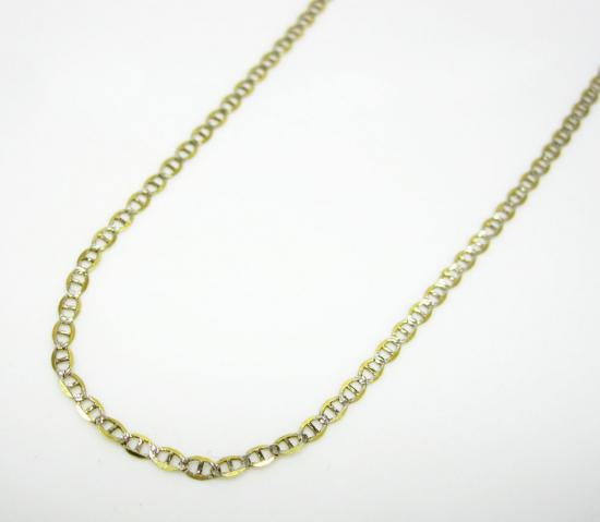 10k Yellow Gold Solid Diamond Cut Mariner Link Chain 18-22 Inch 1.5mm