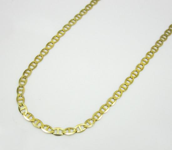10k Yellow Gold Solid Skinny Mariner Link Chain 18-24 Inch 2mm