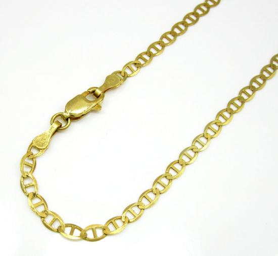 10k Yellow Gold Solid Mariner Bracelet 8.25 Inch 3mm