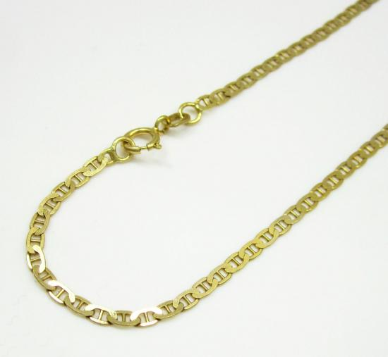 10k Yellow Gold Solid Mariner Bracelet 8 Inch 2mm