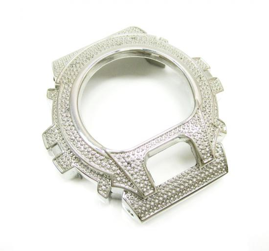 White Stainless Steel Diamond G-shock Case Dw-6900 0.15ct