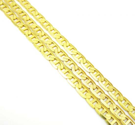 10k Yellow Gold Solid Skinny Mariner Link Chain 22-30 Inch 2mm