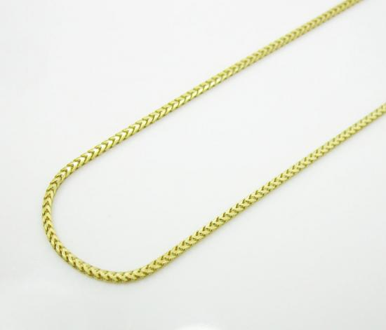 10k Yellow Gold Smooth Cut Franco Link Chain 16-20 Inch 1.2mm
