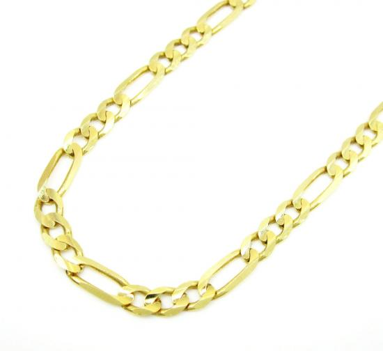 10k Yellow Gold Solid Figaro Link Chain 20 Inch 3.6mm