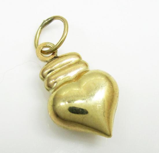 10k Yellow Gold Heart Pendant