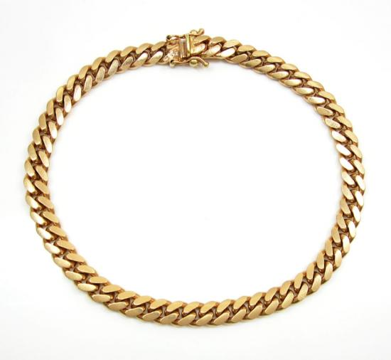 14k Rose Gold Solid Miami Link Bracelet 9 Inch 6mm