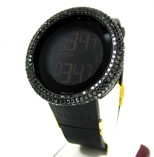 Mens Diamond Igucci Digital Full Case Big Bezel Grammy Edition Watch 11.00ct