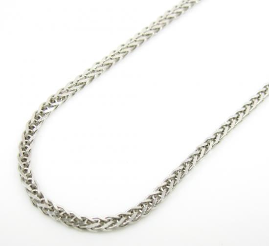 14k Solid White Gold Franco Chain 16-20 Inch 1mm
