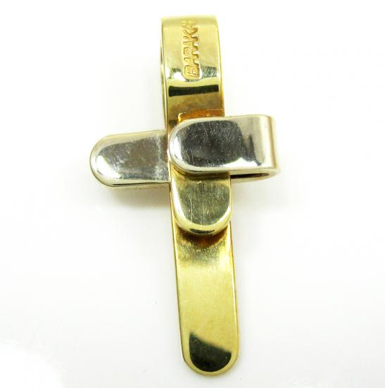 Mens Baraka 18k Rose & Yellow Gold Cross