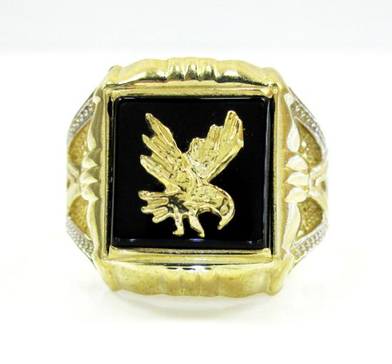 Mens 10k Yellow Gold Eagle Ring