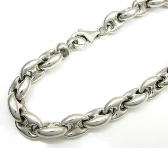 925 Sterling Silver Gucci Link Bracelet 8 Inch 12mm