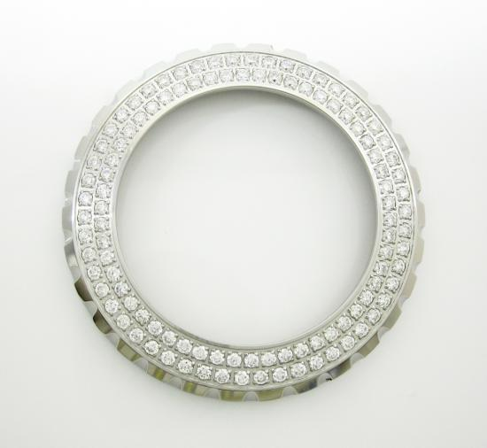 Ladies Original Chanel J12 White Stainless Steel Diamond Bezel 1.10ct