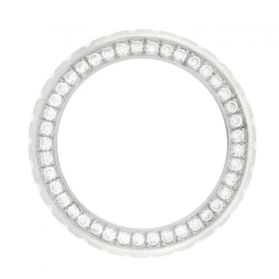 Ladies Original Chanel J12 White Stainless Steel Diamond Bezel 2.00ct