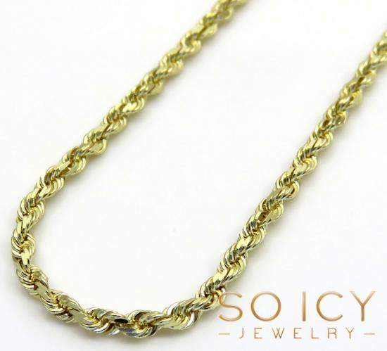 10k Yellow Gold Solid Rope Chain 16 Inch 1.50mm